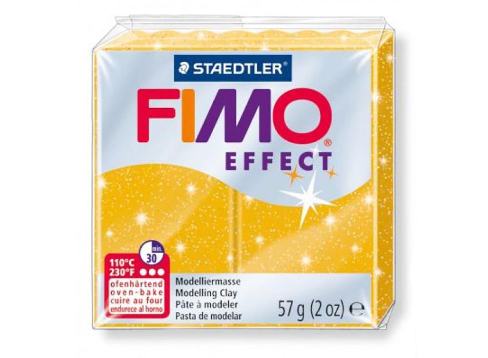 FIMO Effect 112 (золотой с блестками)Полимерная глина FIMO<br>Полимерная глина — удивительный материал для творчества и декоративно-прикладного искусства. Лепка из полимерной глины в равной степени увлекает детей и взрослых, вдохновляет мастеров и новичков. Этот вид творчества не требует профессиональной подготовки ...<br><br>Артикул: 8020-112<br>Вес: 57 г<br>Цвет: Золотой с блестками<br>Серия: FIMO Effect