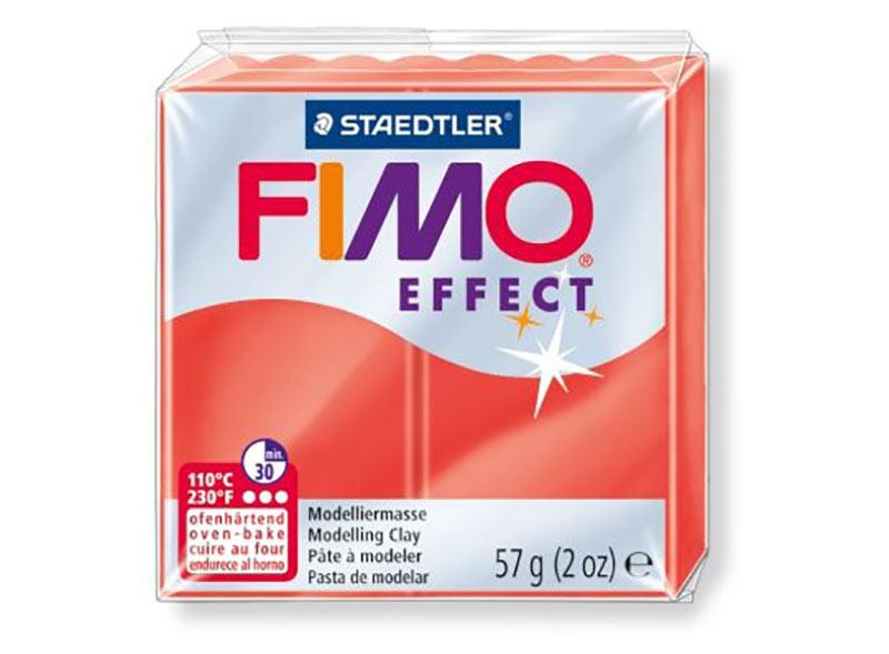 FIMO Effect 204 (полупрозрачный красный)Полимерная глина FIMO<br><br><br>Артикул: 8020-204<br>Вес: 57 г<br>Цвет: Полупрозрачный красный<br>Серия: FIMO Effect