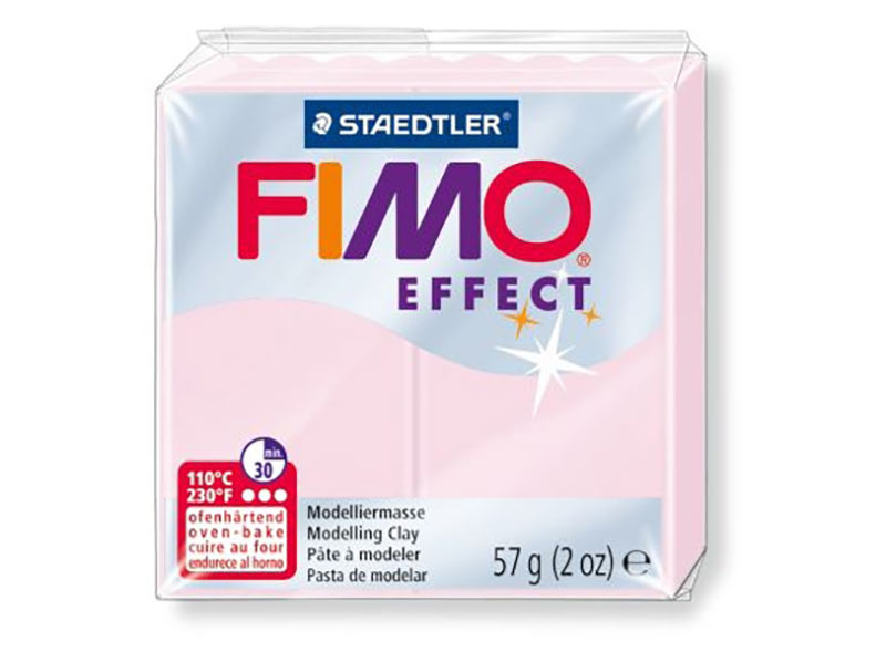 FIMO Effect 206 (розовый кварц)Полимерная глина FIMO<br><br><br>Артикул: 8020-206<br>Вес: 57 г<br>Цвет: Розовый кварц<br>Серия: FIMO Effect