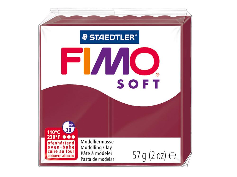 FIMO Soft 23 (мерло)Полимерная глина FIMO<br>Полимерная глина FIMO Soft используется для изготовления украшений, бижутерии и предметов декора.<br> <br> Характеристика:<br><br>мягкая (мягче, чем FIMO Professional);<br>хорошо держит форму, плотность глины позволяет тщательно проработать мельчайшие подробности...<br><br>Артикул: 8020-23<br>Вес: 57 г<br>Цвет: Мерло<br>Серия: FIMO Soft