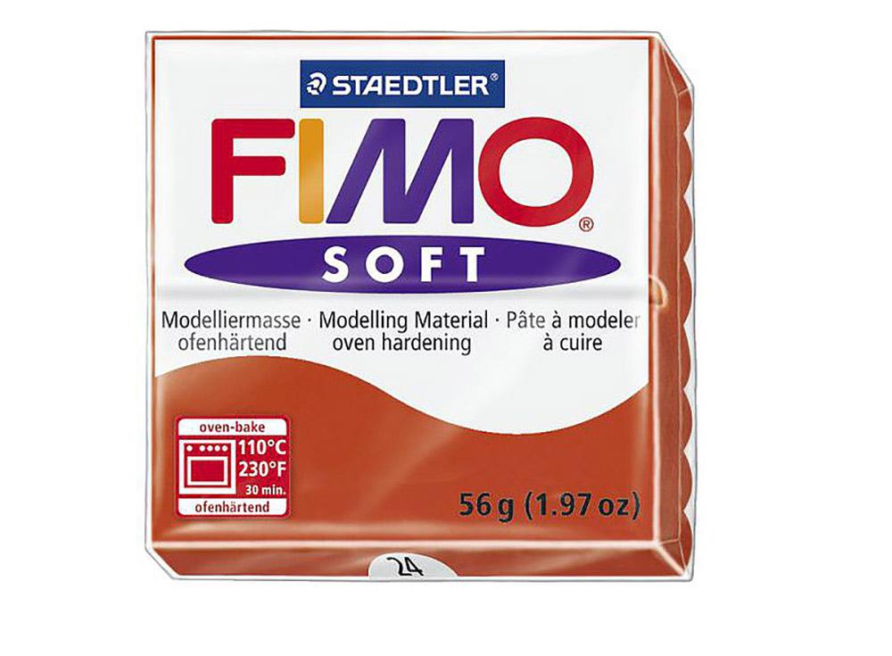 FIMO Soft 24 (индийский красный)Полимерная глина FIMO<br>Полимерная глина FIMO Soft используется для изготовления украшений, бижутерии и предметов декора.<br> <br> Характеристика:<br><br>мягкая (мягче, чем FIMO Professional);<br>хорошо держит форму, плотность глины позволяет тщательно проработать мельчайшие подробности...<br><br>Артикул: 8020-24<br>Вес: 57 г<br>Цвет: Индийский красный<br>Серия: FIMO Soft