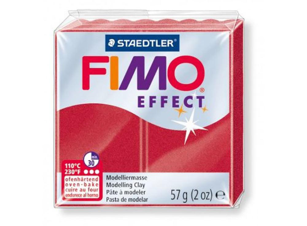 FIMO Effect 28 (рубиновый металлик)Полимерная глина FIMO<br><br><br>Артикул: 8020-28<br>Вес: 57 г<br>Цвет: Рубиновый металлик<br>Серия: FIMO Effect