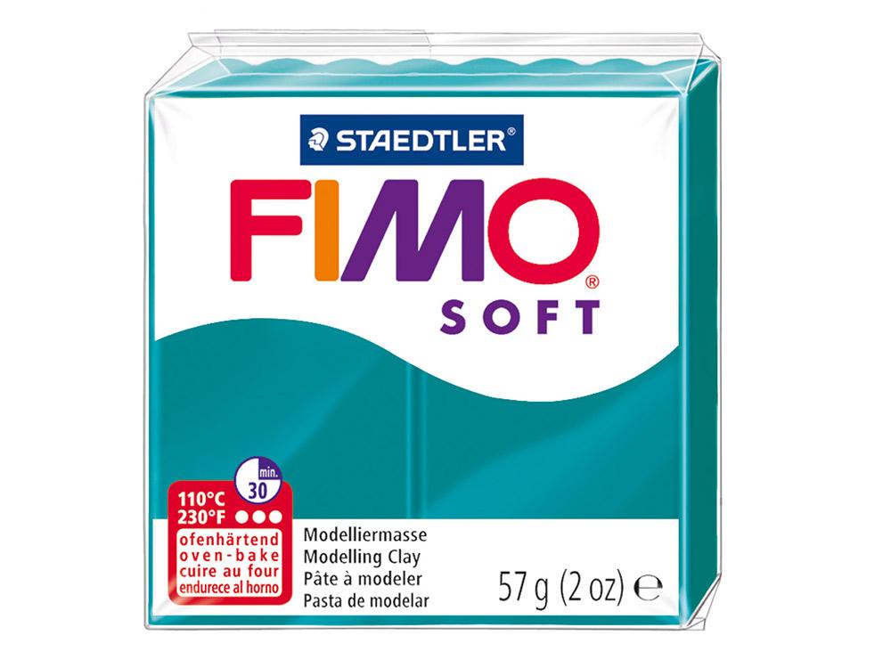 FIMO Soft 36 (темная бирюза)Полимерная глина FIMO<br>Полимерная глина FIMO Soft используется для изготовления украшений, бижутерии и предметов декора.<br> <br> Характеристика:<br><br>мягкая (мягче, чем FIMO Professional);<br>хорошо держит форму, плотность глины позволяет тщательно проработать мельчайшие подробности...<br><br>Артикул: 8020-36<br>Вес: 57 г<br>Цвет: Темная бирюза<br>Серия: FIMO Soft