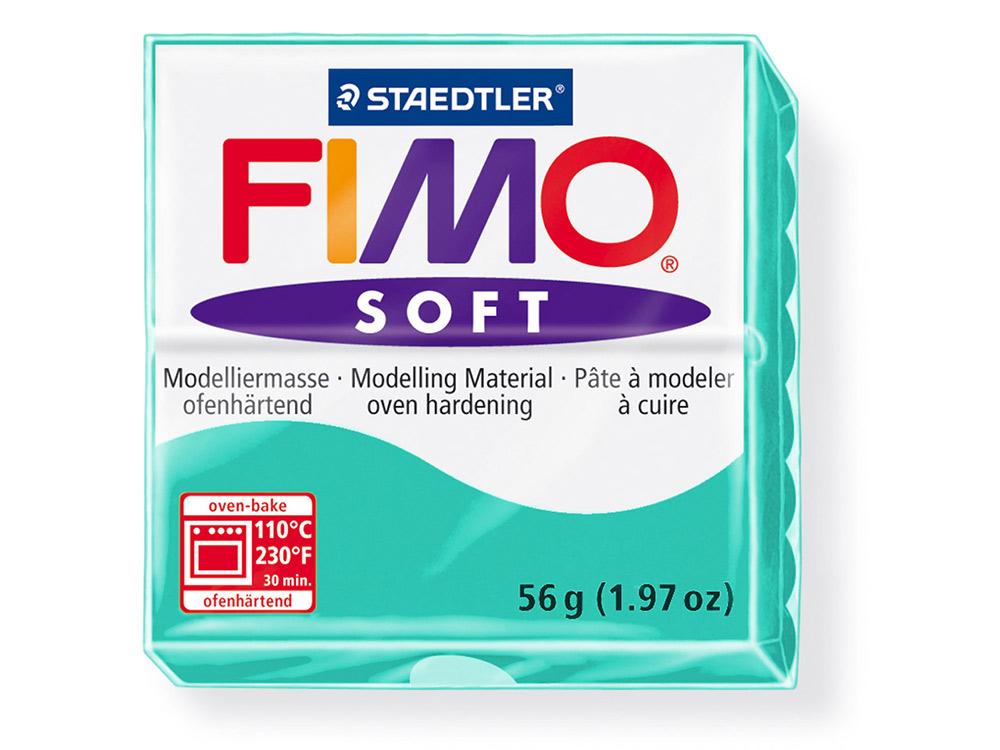 FIMO Soft 39 (мята)Полимерная глина FIMO<br>Полимерная глина FIMO Soft используется для изготовления украшений, бижутерии и предметов декора.<br> <br> Характеристика:<br><br>мягкая (мягче, чем FIMO Professional);<br>хорошо держит форму, плотность глины позволяет тщательно проработать мельчайшие подробности...<br><br>Артикул: 8020-39<br>Вес: 57 г<br>Цвет: Мята<br>Серия: FIMO Soft