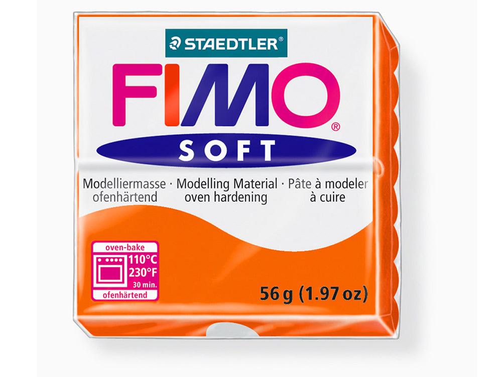FIMO Soft 42 (мандарин)Полимерная глина FIMO<br>Полимерная глина — удивительный материал для творчества и декоративно-прикладного искусства. Лепка из полимерной глины в равной степени увлекает детей и взрослых, вдохновляет мастеров и новичков. Этот вид творчества не требует профессиональной подготовки ...<br><br>Артикул: 8020-42<br>Вес: 57 г<br>Цвет: Мандарин<br>Серия: FIMO Soft