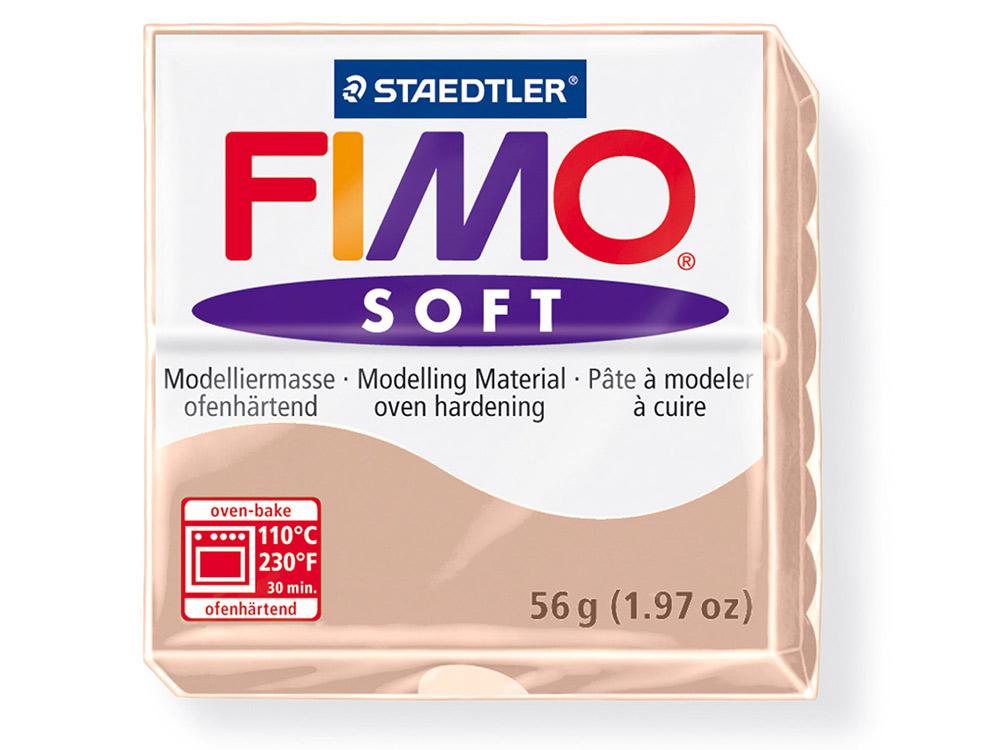 FIMO Soft 43 (телесный)Полимерная глина FIMO<br>Полимерная глина — удивительный материал для творчества и декоративно-прикладного искусства. Лепка из полимерной глины в равной степени увлекает детей и взрослых, вдохновляет мастеров и новичков. Этот вид творчества не требует профессиональной подготовки ...<br><br>Артикул: 8020-43<br>Вес: 57 г<br>Цвет: Телесный<br>Серия: FIMO Soft