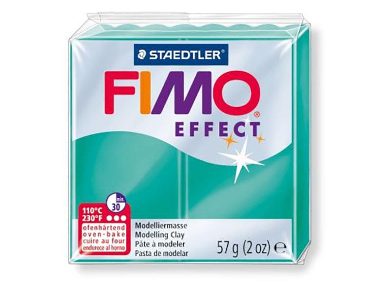 FIMO Effect 504 (полупрозрачный зеленый)Полимерная глина FIMO<br><br><br>Артикул: 8020-504<br>Вес: 57 г<br>Цвет: Полупрозрачный зеленый<br>Серия: FIMO Effect