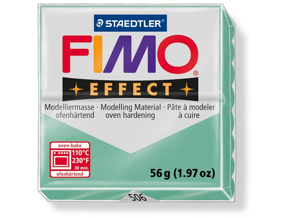 FIMO Effect 506 (зеленый нефрит)Полимерная глина FIMO<br><br><br>Артикул: 8020-506<br>Вес: 57 г<br>Цвет: Зеленый нефрит<br>Серия: FIMO Effect