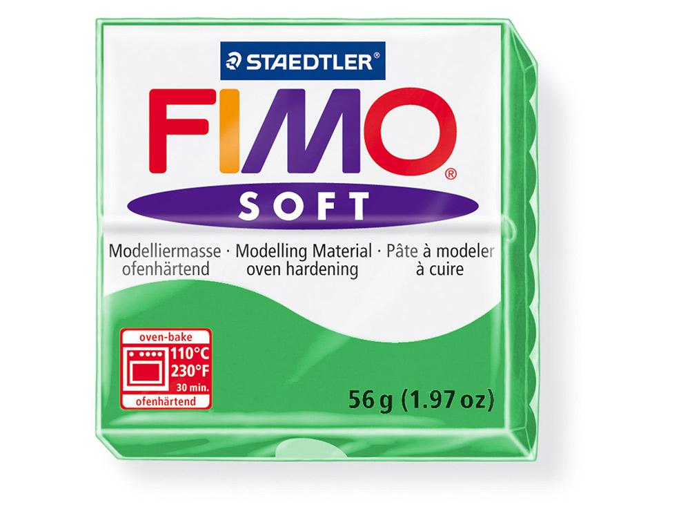 FIMO Soft 53 (тропический зеленый)Полимерная глина FIMO<br>Полимерная глина FIMO Soft используется для изготовления украшений, бижутерии и предметов декора.<br> <br> Характеристика:<br><br>мягкая (мягче, чем FIMO Professional);<br>хорошо держит форму, плотность глины позволяет тщательно проработать мельчайшие подробности...<br><br>Артикул: 8020-53<br>Вес: 57 г<br>Цвет: Тропический зеленый<br>Серия: FIMO Soft