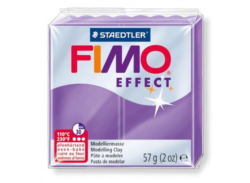 FIMO Effect 604 (полупрозрачный фиолетовый)Полимерная глина FIMO<br>Полимерная глина — удивительный материал для творчества и декоративно-прикладного искусства. Лепка из полимерной глины в равной степени увлекает детей и взрослых, вдохновляет мастеров и новичков. Этот вид творчества не требует профессиональной подготовки ...<br><br>Артикул: 8020-604<br>Вес: 57 г<br>Цвет: Полупрозрачный фиолетовый<br>Серия: FIMO Effect