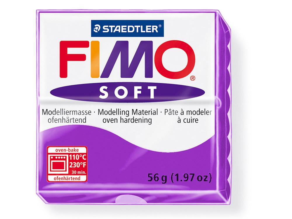 FIMO Soft 61 (фиолетовый)Полимерная глина FIMO<br>Полимерная глина FIMO Soft используется для изготовления украшений, бижутерии и предметов декора.<br> <br> Характеристика:<br><br>мягкая (мягче, чем FIMO Professional);<br>хорошо держит форму, плотность глины позволяет тщательно проработать мельчайшие подробности...<br><br>Артикул: 8020-61<br>Вес: 57 г<br>Цвет: Фиолетовый<br>Серия: FIMO Soft