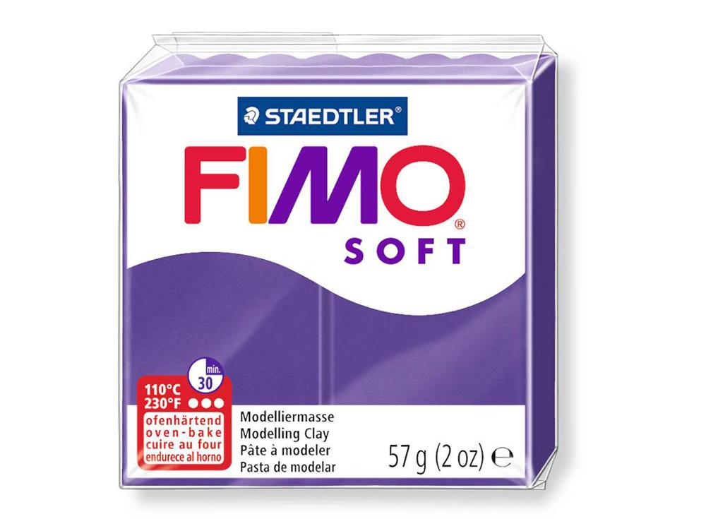 FIMO Soft 63 (сливовый)Полимерная глина FIMO<br>Полимерная глина FIMO Soft используется для изготовления украшений, бижутерии и предметов декора.<br> <br> Характеристика:<br><br>мягкая (мягче, чем FIMO Professional);<br>хорошо держит форму, плотность глины позволяет тщательно проработать мельчайшие подробности...<br><br>Артикул: 8020-63<br>Вес: 57 г<br>Цвет: Сливовый<br>Серия: FIMO Soft