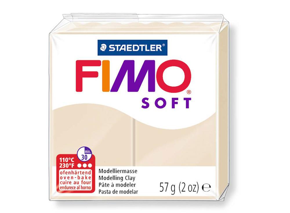 FIMO Soft 70 (сахара)Полимерная глина FIMO<br>Полимерная глина FIMO Soft используется для изготовления украшений, бижутерии и предметов декора.<br> <br> Характеристика:<br><br>мягкая (мягче, чем FIMO Professional);<br>хорошо держит форму, плотность глины позволяет тщательно проработать мельчайшие подробности...<br><br>Артикул: 8020-70<br>Вес: 57 г<br>Цвет: Сахара<br>Серия: FIMO Soft