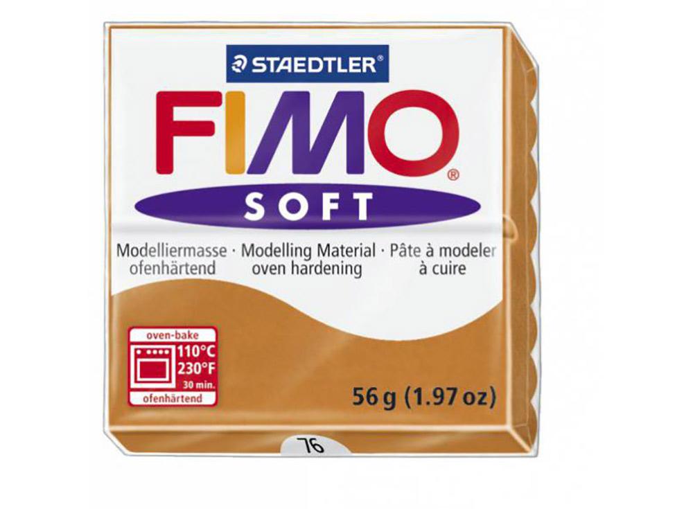 FIMO Soft 76 (коньяк)Полимерная глина FIMO<br>Полимерная глина — удивительный материал для творчества и декоративно-прикладного искусства. Лепка из полимерной глины в равной степени увлекает детей и взрослых, вдохновляет мастеров и новичков. Этот вид творчества не требует профессиональной подготовки ...<br><br>Артикул: 8020-76<br>Вес: 57 г<br>Цвет: Коньяк<br>Серия: FIMO Soft