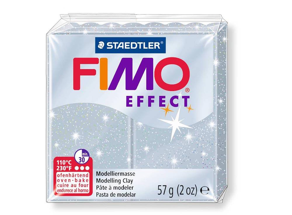FIMO Effect 812 (серебряный с блестками)Полимерная глина FIMO<br><br><br>Артикул: 8020-812<br>Вес: 57 г<br>Цвет: Серебряный с блестками<br>Серия: FIMO Effect
