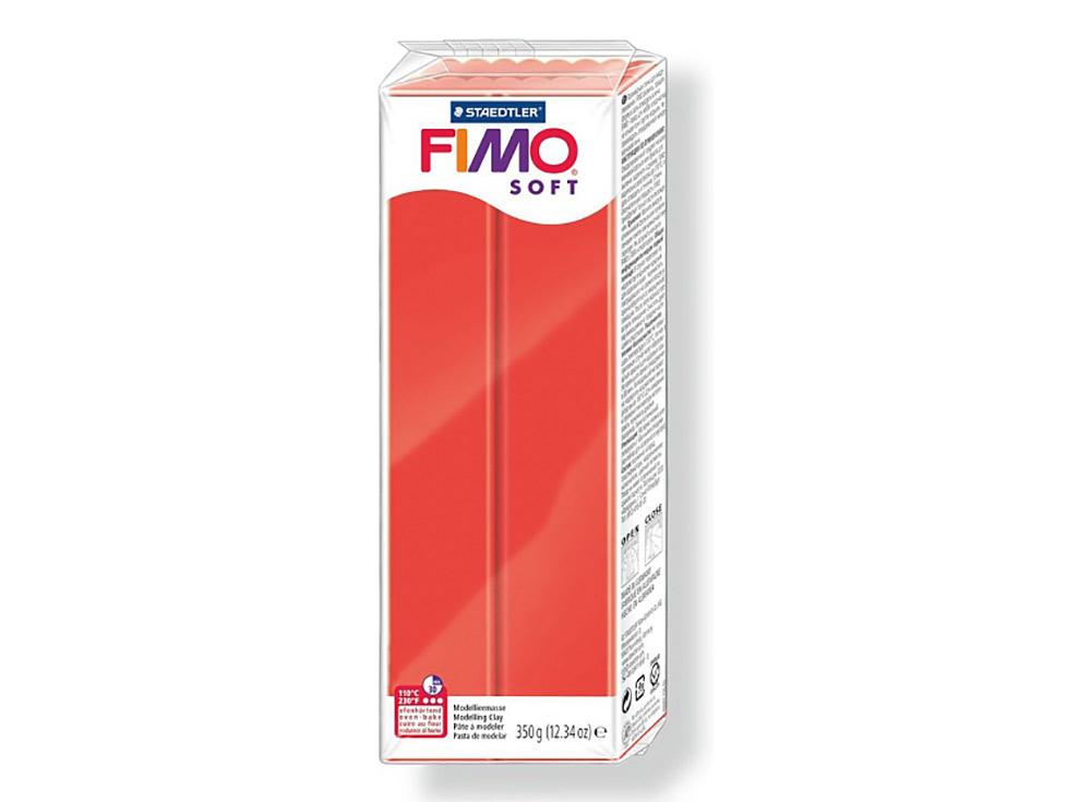 FIMO Soft 24 (индийский красный) 350 гПолимерная глина FIMO<br>Полимерная глина FIMO Soft используется для изготовления украшений, бижутерии и предметов декора.<br> <br> Характеристика:<br><br>мягкая (мягче, чем FIMO Professional);<br>хорошо держит форму, плотность глины позволяет тщательно проработать мельчайшие подробности...<br><br>Артикул: 8022-24<br>Вес: 350 г<br>Цвет: Индийский красный<br>Серия: FIMO Soft
