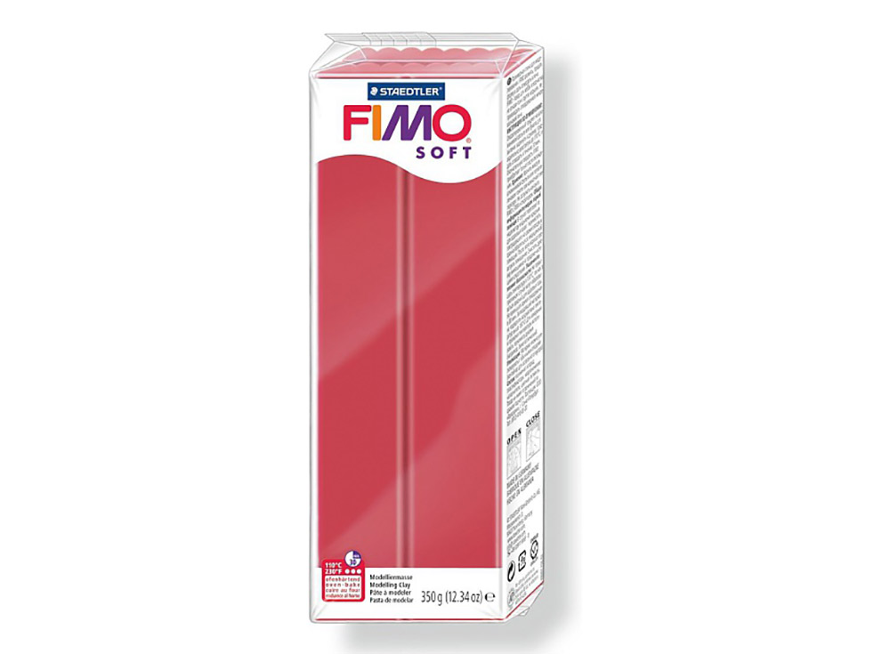 FIMO Soft 26 (вишнёво-красный) 350 гПолимерная глина FIMO<br>Полимерная глина FIMO Soft используется для изготовления украшений, бижутерии и предметов декора.<br> <br> Характеристика:<br><br>мягкая (мягче, чем FIMO Professional);<br>хорошо держит форму, плотность глины позволяет тщательно проработать мельчайшие подробности...<br><br>Артикул: 8022-26<br>Вес: 350 г<br>Цвет: Вишнёво-красный<br>Серия: FIMO Soft