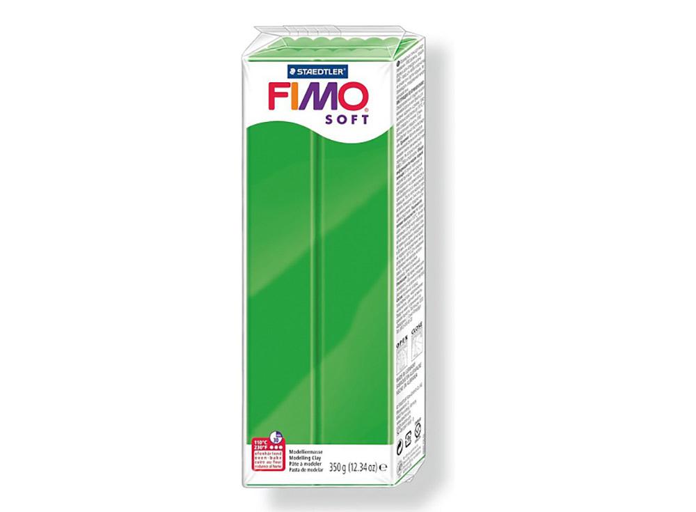 FIMO Soft 53 (тропический зеленый) 350 гПолимерная глина FIMO<br>Полимерная глина FIMO Soft используется для изготовления украшений, бижутерии и предметов декора.<br> <br> Характеристика:<br><br>мягкая (мягче, чем FIMO Professional);<br>хорошо держит форму, плотность глины позволяет тщательно проработать мельчайшие подробности...<br><br>Артикул: 8022-53<br>Вес: 350 г<br>Цвет: Тропический зеленый<br>Серия: FIMO Soft