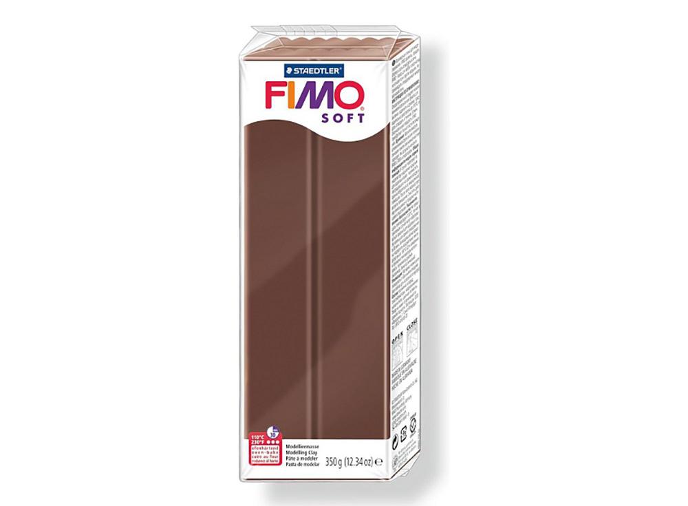 FIMO Soft 75 (шоколад) 350 гПолимерная глина FIMO<br>Полимерная глина FIMO Soft используется для изготовления украшений, бижутерии и предметов декора.<br> <br> Характеристика:<br><br>мягкая (мягче, чем FIMO Professional);<br>хорошо держит форму, плотность глины позволяет тщательно проработать мельчайшие подробности...<br><br>Артикул: 8022-75<br>Вес: 350 г<br>Цвет: Шоколад<br>Серия: FIMO Soft