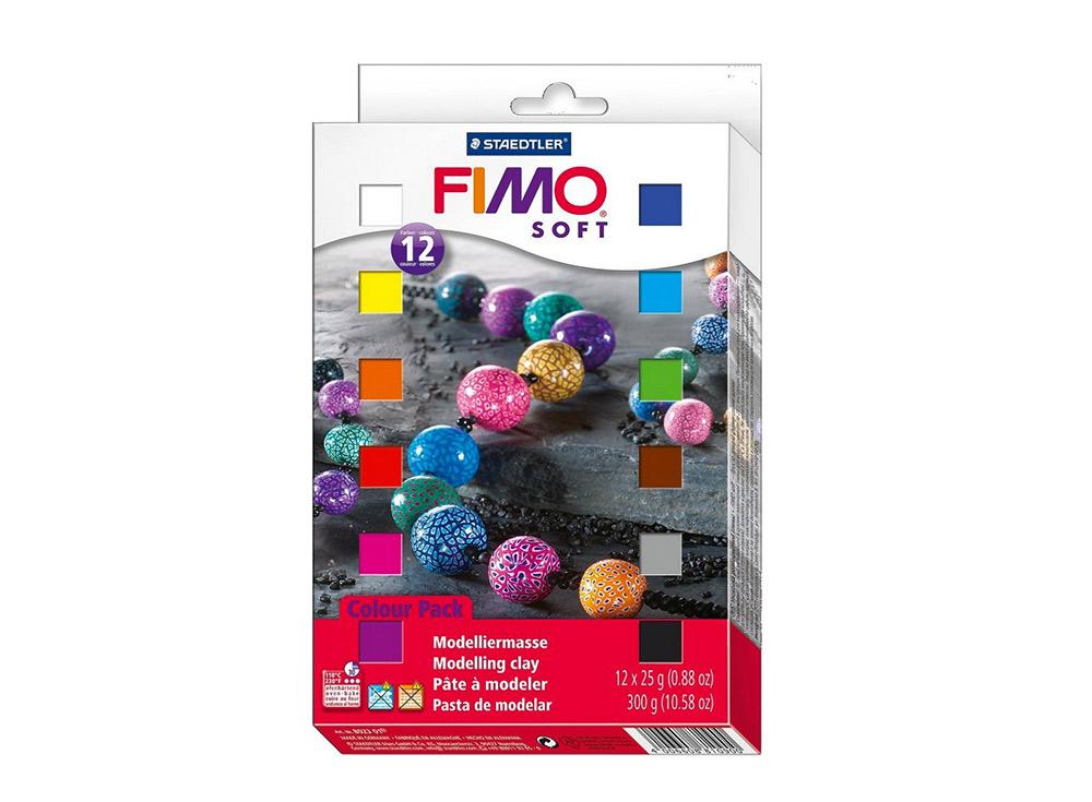 Набор FIMO Soft (12 блоков х 25 г)Полимерная глина FIMO<br><br><br>Артикул: 8023_01<br>Вес: 25 г<br>Серия: Наборы FIMO