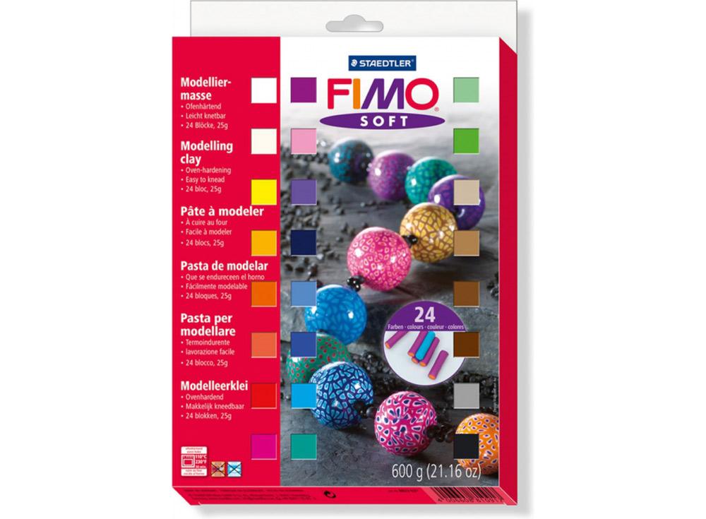 Набор FIMO Soft (24 блока х 25 г)Полимерная глина FIMO<br><br><br>Артикул: 8023_02<br>Вес: 25 г<br>Серия: Наборы FIMO