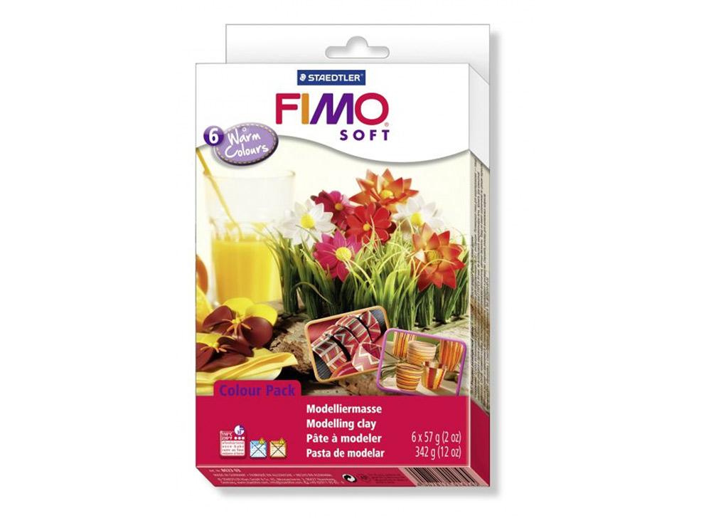 Набор FIMO Soft «Теплые цвета» (6 цветов х 57 г)Полимерная глина FIMO<br><br><br>Артикул: 8023_03<br>Вес: 57 г<br>Серия: Наборы FIMO