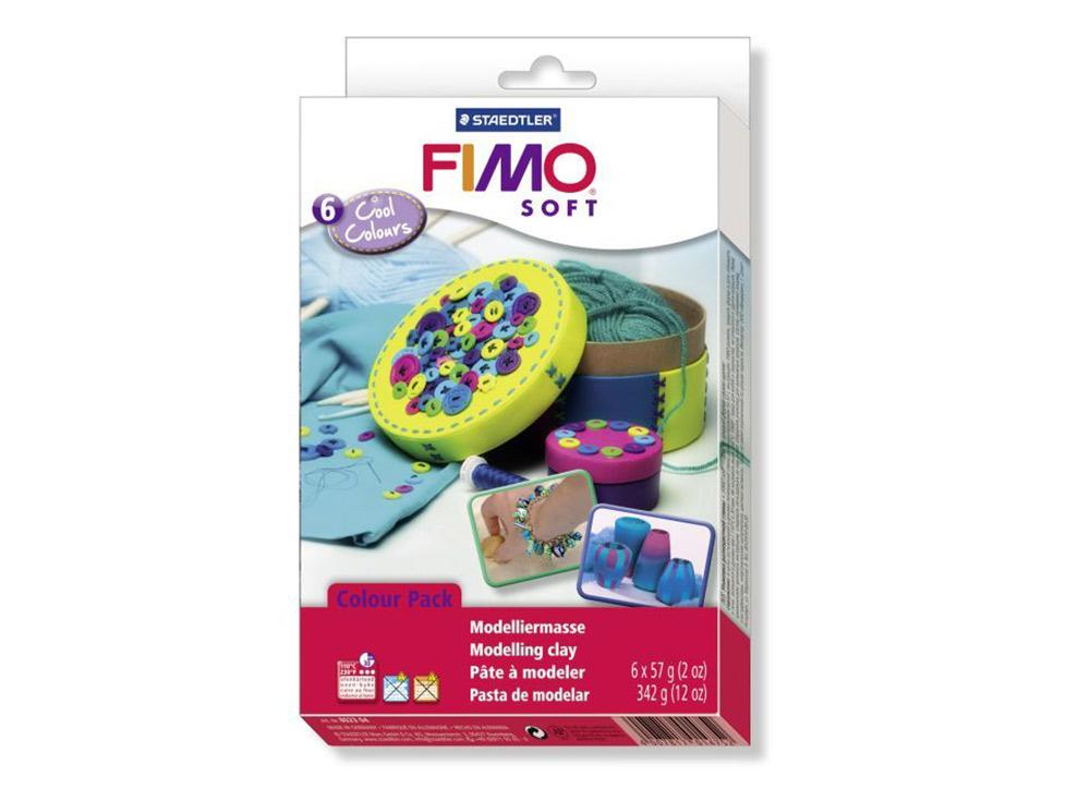 Набор FIMO Soft «Холодные цвета» (6 цветов х 57 г)Полимерная глина FIMO<br><br><br>Артикул: 8023_04<br>Вес: 57 г<br>Серия: Наборы FIMO