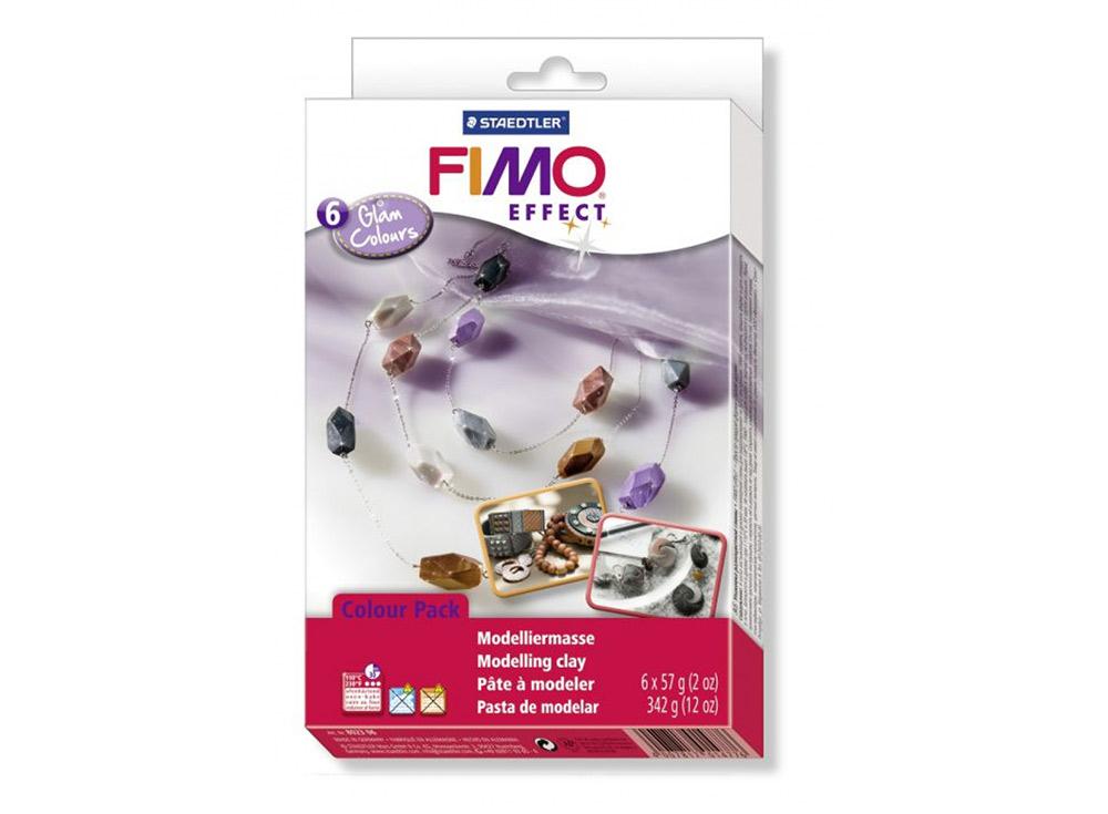 Набор FIMO Effect «Гламурные цвета» (6 цветов х 57 г)Полимерная глина FIMO<br><br><br>Артикул: 8023_06<br>Вес: 57 г<br>Серия: Наборы FIMO
