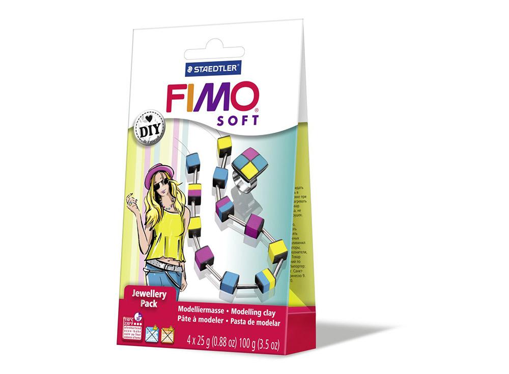 Набор FIMO Soft для украшений «Кубы»Полимерная глина FIMO<br>Полимерная глина — удивительный материал для творчества и декоративно-прикладного искусства. Лепка из полимерной глины в равной степени увлекает детей и взрослых, вдохновляет мастеров и новичков. Этот вид творчества не требует профессиональной подготовки ...<br><br>Артикул: 8025_06<br>Вес: 25 г<br>Серия: Наборы FIMO