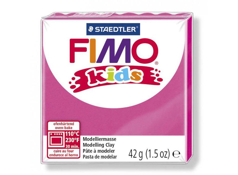 FIMO Kids 220 (розовый)Полимерная глина FIMO<br>FIMO Kids - специальная серия мягкой полимерной глины для детей. Идеально подходит для лепки фигурок, цветов, сувениров, игрушек.<br> <br> Характеристика:<br> - мягкая консистенция глины (не нужно прилагать усилий для размягчения, она уже достаточно мягкая для ...<br><br>Артикул: 8030-220<br>Вес: 42 г<br>Цвет: Розовый<br>Серия: FIMO Kids