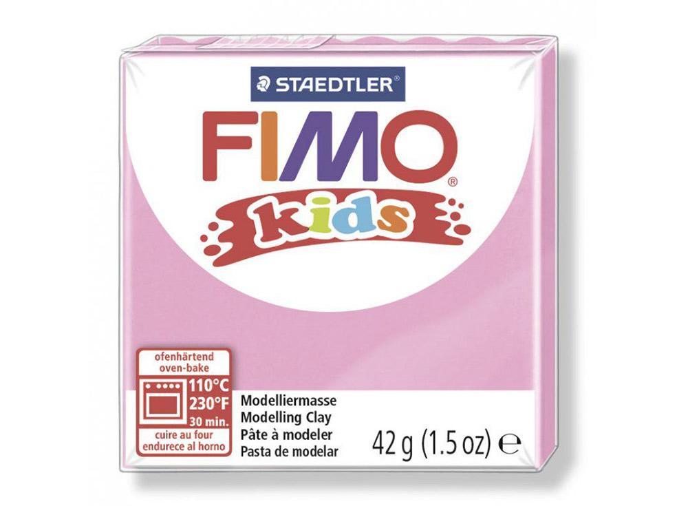 FIMO Kids 25 (нежно-розовый)Полимерная глина FIMO<br>Полимерная глина — удивительный материал для творчества и декоративно-прикладного искусства. Лепка из полимерной глины в равной степени увлекает детей и взрослых, вдохновляет мастеров и новичков. Этот вид творчества не требует профессиональной подготовки ...<br><br>Артикул: 8030-25<br>Вес: 42 г<br>Цвет: Нежно-розовый<br>Серия: FIMO Kids