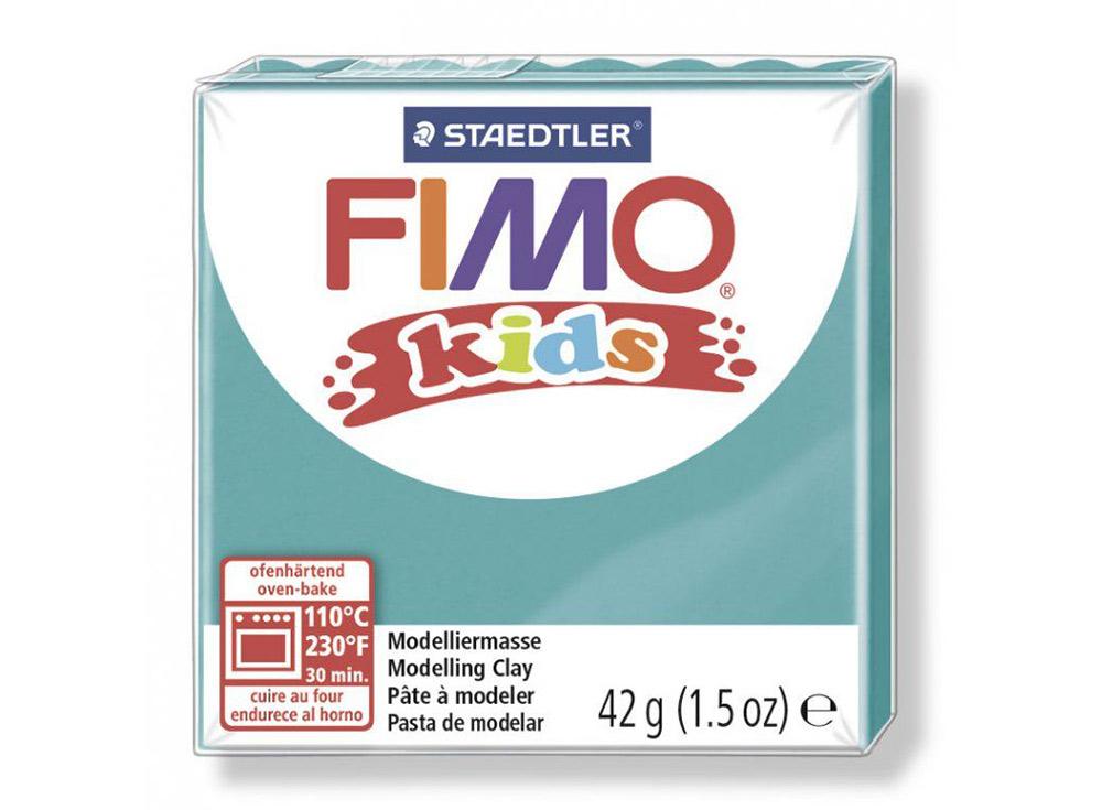 FIMO Kids 39 (бирюзовый)Полимерная глина FIMO<br>Полимерная глина — удивительный материал для творчества и декоративно-прикладного искусства. Лепка из полимерной глины в равной степени увлекает детей и взрослых, вдохновляет мастеров и новичков. Этот вид творчества не требует профессиональной подготовки ...<br><br>Артикул: 8030-39<br>Вес: 42 г<br>Цвет: Бирюзовый<br>Серия: FIMO Kids