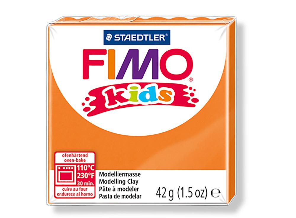 FIMO Kids 4 (оранжевый)Полимерная глина FIMO<br>FIMO Kids - специальная серия мягкой полимерной глины для детей. Идеально подходит для лепки фигурок, цветов, сувениров, игрушек.<br> <br> Характеристика:<br> - мягкая консистенция глины (не нужно прилагать усилий для размягчения, она уже достаточно мягкая для ...<br><br>Артикул: 8030-4<br>Вес: 42 г<br>Цвет: Оранжевый<br>Серия: FIMO Kids