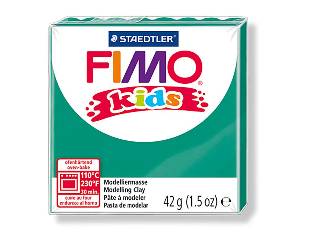FIMO Kids 5 (зеленый)Полимерная глина FIMO<br>Полимерная глина — удивительный материал для творчества и декоративно-прикладного искусства. Лепка из полимерной глины в равной степени увлекает детей и взрослых, вдохновляет мастеров и новичков. Этот вид творчества не требует профессиональной подготовки ...<br><br>Артикул: 8030-5<br>Вес: 42 г<br>Цвет: Зеленый<br>Серия: FIMO Kids