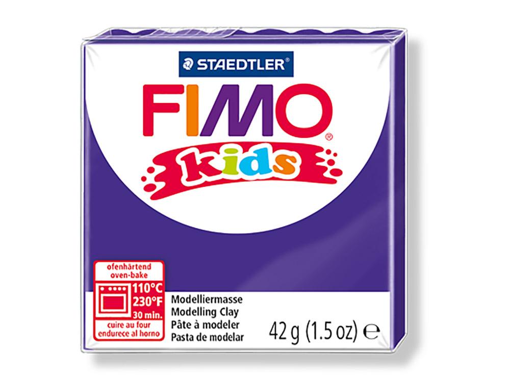 FIMO Kids 6 (лиловый)Полимерная глина FIMO<br>Полимерная глина — удивительный материал для творчества и декоративно-прикладного искусства. Лепка из полимерной глины в равной степени увлекает детей и взрослых, вдохновляет мастеров и новичков. Этот вид творчества не требует профессиональной подготовки ...<br><br>Артикул: 8030-6<br>Вес: 42 г<br>Цвет: Лиловый<br>Серия: FIMO Kids