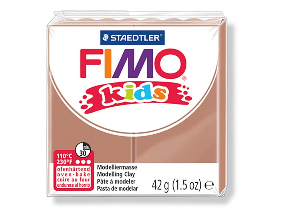 FIMO Kids 71 (светло-коричневый)Полимерная глина FIMO<br>FIMO Kids - специальная серия мягкой полимерной глины для детей. Идеально подходит для лепки фигурок, цветов, сувениров, игрушек.<br> <br> Характеристика:<br> - мягкая консистенция глины (не нужно прилагать усилий для размягчения, она уже достаточно мягкая для ...<br><br>Артикул: 8030-71<br>Вес: 42 г<br>Цвет: Светло-коричневый<br>Серия: FIMO Kids