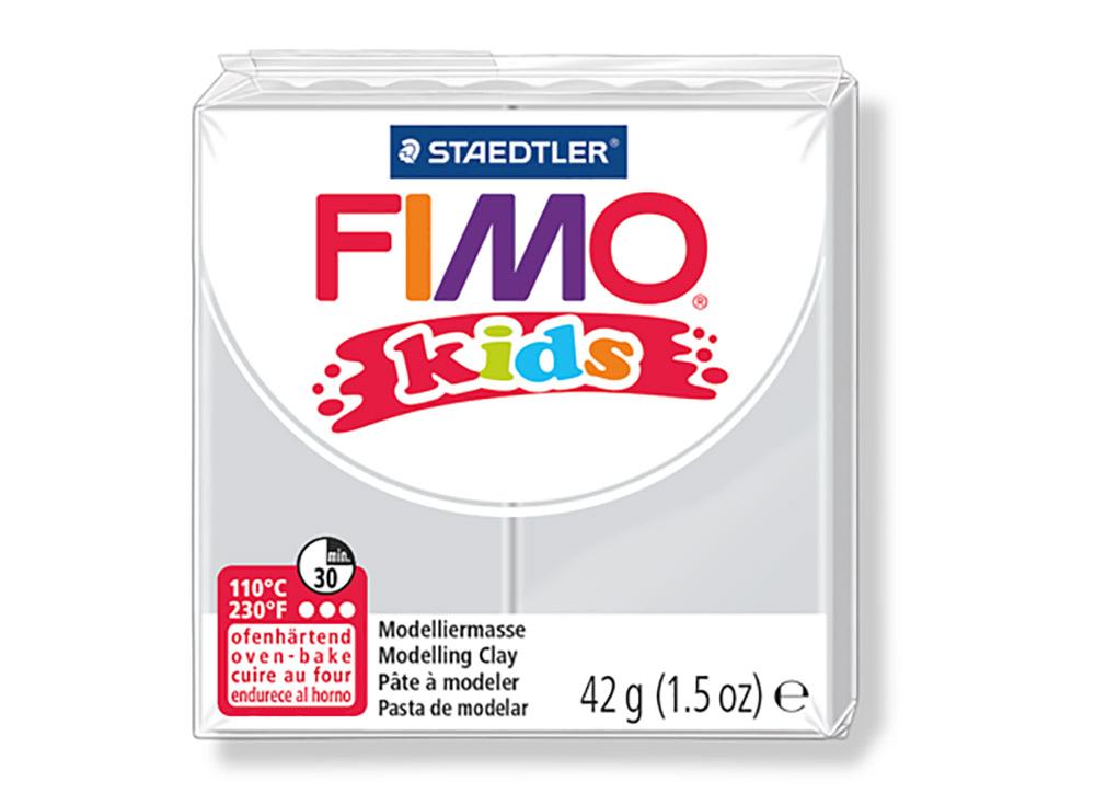 FIMO Kids 80 (светло-серый)Полимерная глина FIMO<br>Полимерная глина — удивительный материал для творчества и декоративно-прикладного искусства. Лепка из полимерной глины в равной степени увлекает детей и взрослых, вдохновляет мастеров и новичков. Этот вид творчества не требует профессиональной подготовки ...<br><br>Артикул: 8030-80<br>Вес: 42 г<br>Цвет: Светло-серый<br>Серия: FIMO Kids