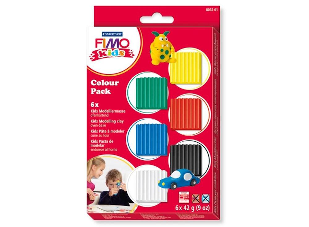 Набор FIMO Kids «Базовый» (6 блоков х 42 г)Полимерная глина FIMO<br><br><br>Артикул: 8032_01<br>Вес: 42 г<br>Серия: Наборы FIMO