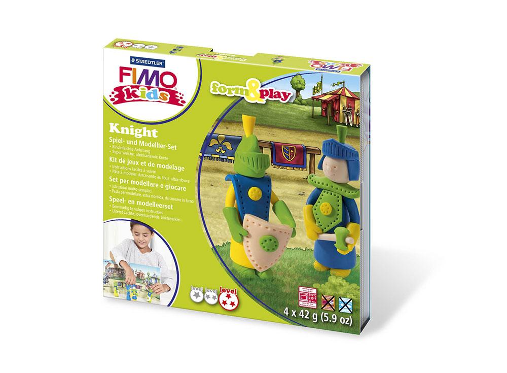 Набор FIMO Kids form&amp;play «Рыцарь»Полимерная глина FIMO<br><br><br>Артикул: 8034_05_LZ<br>Вес: 42 г<br>Серия: FIMO Kids form&amp;play