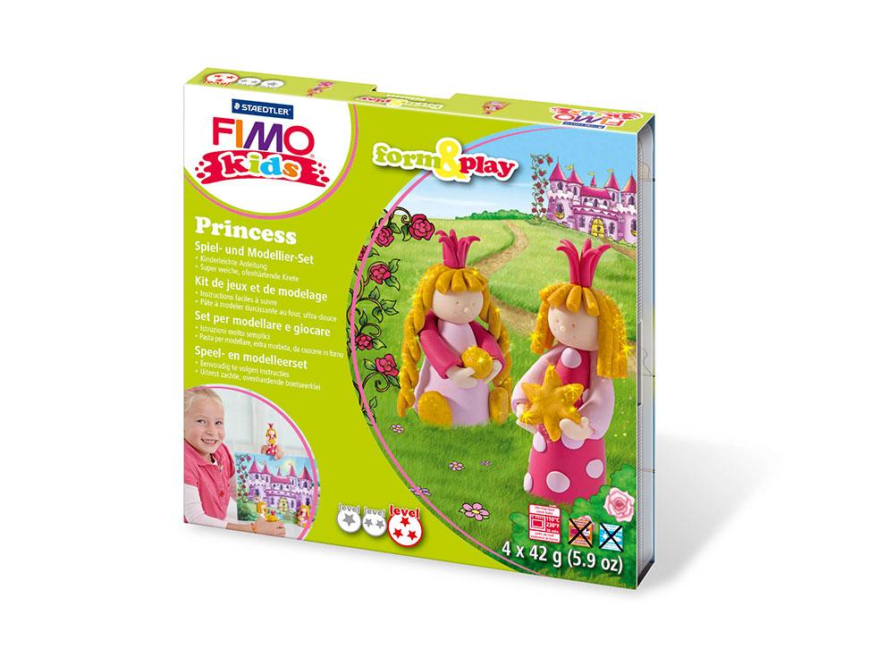 Набор для детей FIMO Kids «Принцесса»Полимерная глина FIMO<br><br><br>Артикул: 8034_06_LZ<br>Вес: 42 г<br>Серия: FIMO Kids form&amp;play