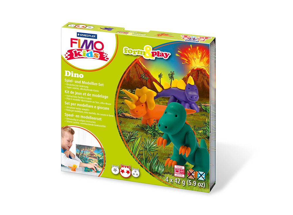 Набор FIMO Kids form&amp;play «Дино»Полимерная глина FIMO<br><br><br>Артикул: 8034_07_LZ<br>Вес: 42 г<br>Серия: FIMO Kids form&amp;play