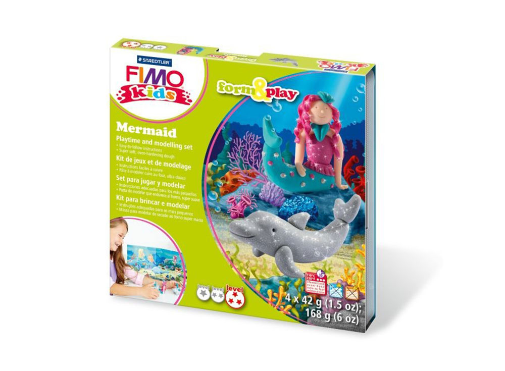 Набор FIMO Kids form&amp;play «Русалочка»Полимерная глина FIMO<br><br><br>Артикул: 8034_12_LZ<br>Вес: 42 г<br>Серия: FIMO Kids form&amp;play
