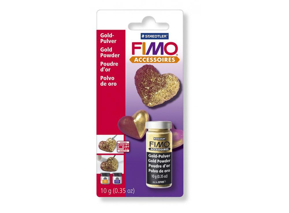 Золотая пудра FIMOМатериалы для лепки<br><br><br>Артикул: 8709_BK<br>Вес: 10 гр<br>Цвет: Золотой