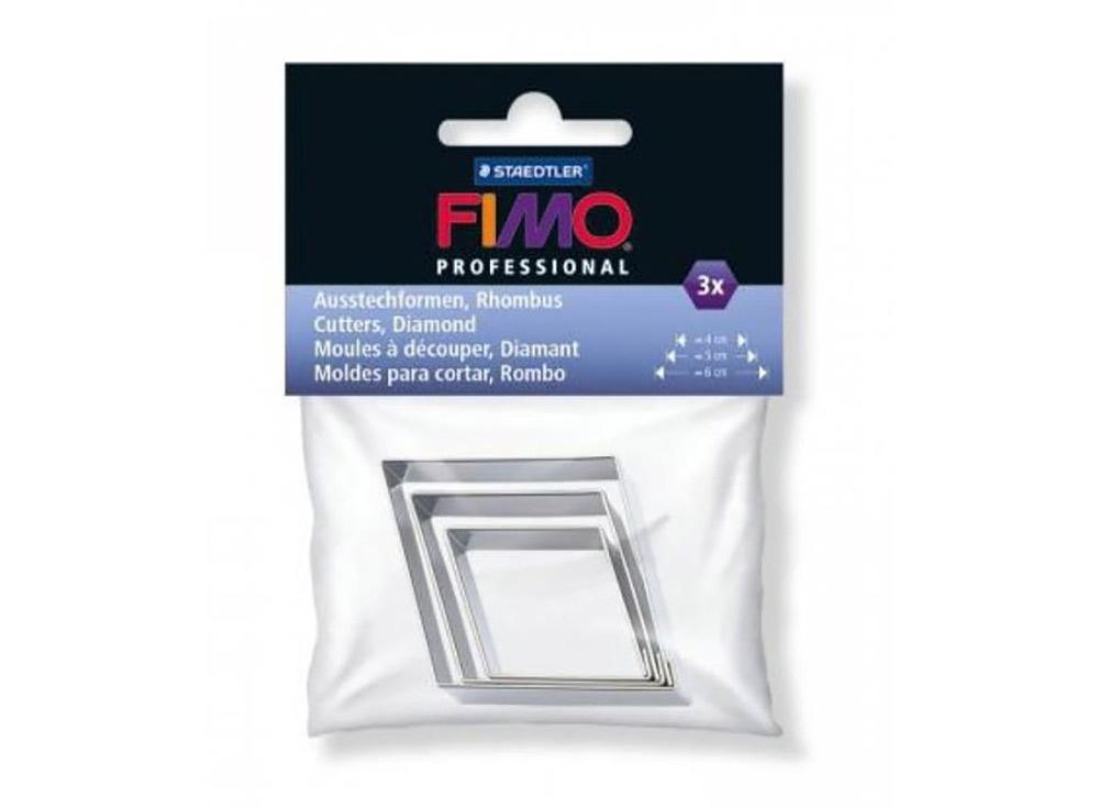 Набор каттеров FIMO Professional «Ромб», 3 шт.Инструменты для лепки<br><br><br>Артикул: 8724_04<br>Размер: 4 см, 5 см, 6 см<br>Количество: 3 каттера