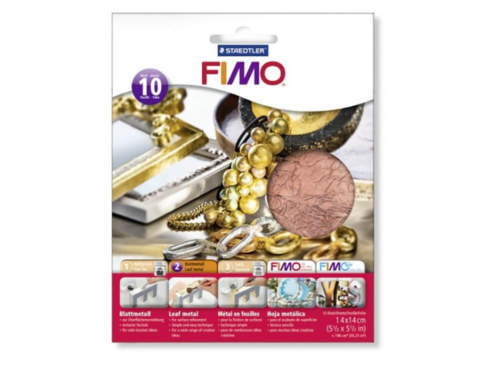 Бронзовая фольга FIMO, 10 листов 14x14Материалы для лепки<br><br><br>Артикул: 8781-26<br>Цвет: Бронзовый