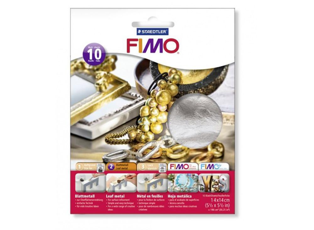 Серебряная фольга FIMO, 10 листов 14x14Материалы для лепки<br><br><br>Артикул: 8781-81<br>Цвет: Серебряный