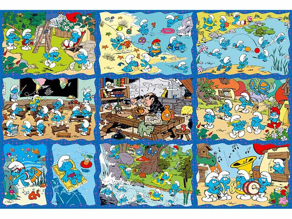 Пазлы «Веселые Смурфы»Trefl<br>Пазл - игра-головоломка, мозаика, состоящая из множества фрагментов, различающихся по форме.<br> По мнению психологов, игра в пазлы способствует развитию логического мышления, внимания, воображения и памяти. Пазлы хороши для всех возрастов - и ребенка-дошко...<br><br>Артикул: 90169<br>Размер: 33,3x22 см