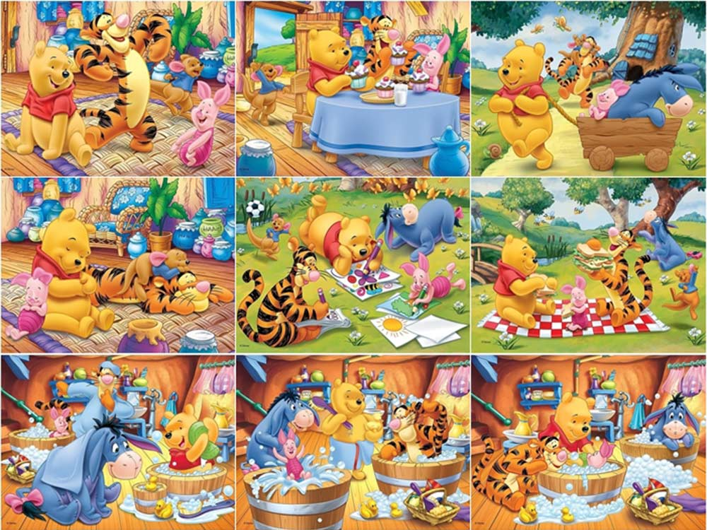 Пазлы «Винни-Пух»Trefl<br>Пазл - игра-головоломка, мозаика, состоящая из множества фрагментов, различающихся по форме.<br> По мнению психологов, игра в пазлы способствует развитию логического мышления, внимания, воображения и памяти. Пазлы хороши для всех возрастов - и ребенка-дошко...<br><br>Артикул: 90304<br>Размер: 33,4x22 см