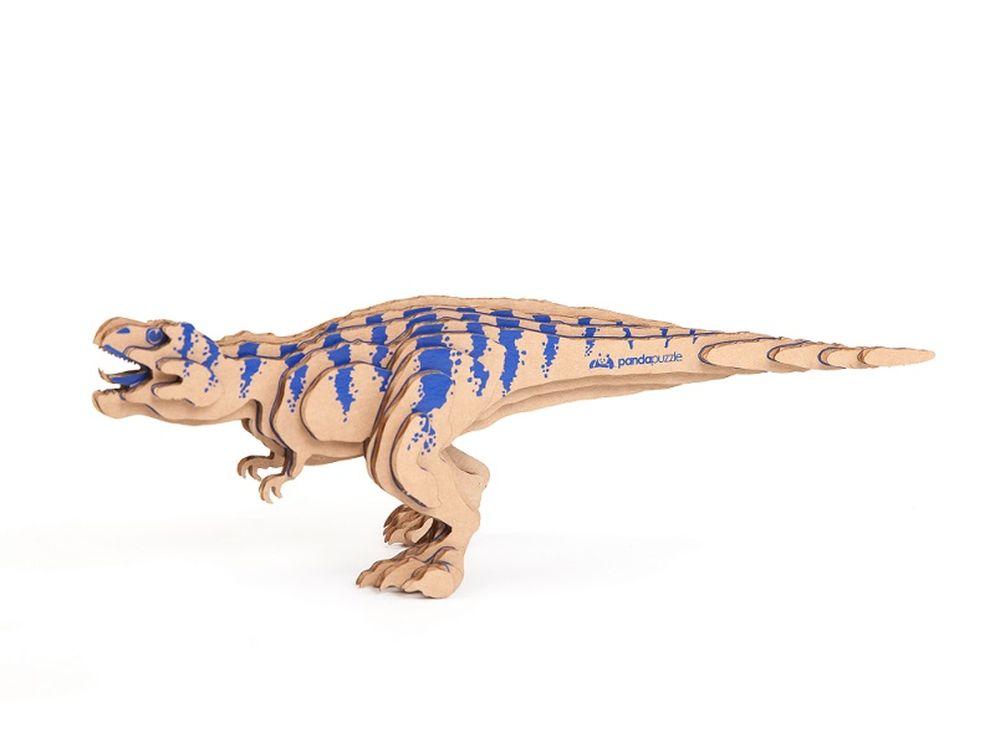 3D-пазл PandaPuzzle «Тираннозавр»PandaPuzzle<br><br><br>Артикул: АВ 1101<br>Размер: 26x9x8 см<br>Материал: Гофрокартон<br>Вес упаковки: 90 г<br>Вес модели: 22 г<br>Размер упаковки: 26x11x5 см<br>Возраст: от 5 лет