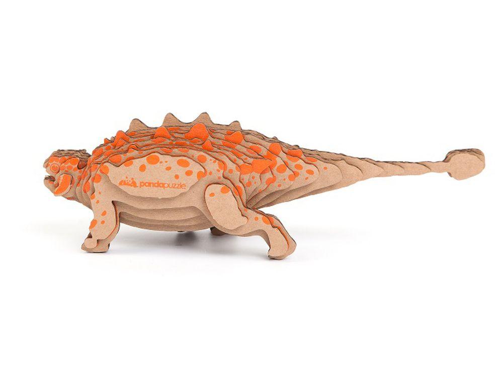 3D-пазл PandaPuzzle «Анкилозавр»PandaPuzzle<br><br><br>Артикул: АВ 1102<br>Размер: 22x7x6 см<br>Материал: Гофрокартон<br>Вес упаковки: 96 г<br>Вес модели: 31 г<br>Размер упаковки: 26x11x5 см<br>Возраст: от 5 лет